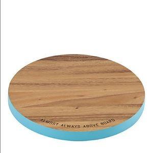 NWT Kate Spade Wood Circle Cutting Board